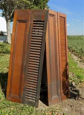 Wood Shutters Lot Victorian Window Louver Plantation Door Mission Vintage a43