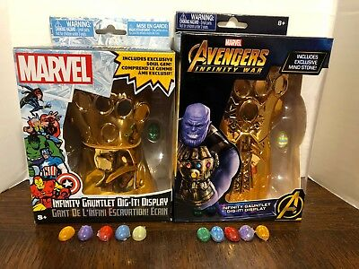 Infinity Gauntlet Dig It! Series 1 and 2 Complete Set Gems/Stones Both See Descr