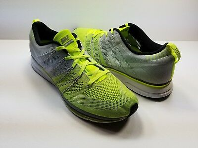 NIKE FLYKNIT TRAINER+ GRAY/GREEN 532984-714 - Size 13