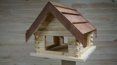 NEW Large Wooden Bird Table  House Bird Feeder