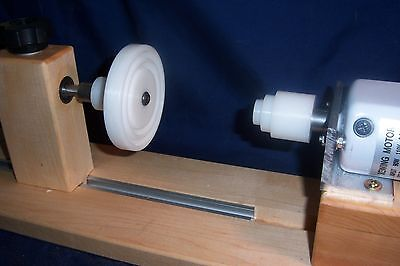 "Electric 2 End Bobbin Winder for Boats,  Cones ,Spools, Bobbins 6 3/4"" wind Dia"
