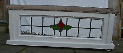 Leaded light stained glass window sash. ABOVE DOOR SIZE! R882d.