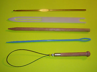 Expanded 5 Piece Weaving Tool Kit  for Triloom, CSW, Peg, & Frame Looms ETC.
