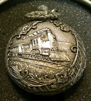 Lionel Collectible Train Pocket Watch w/ COA In Round Tin Very Good-Excellent