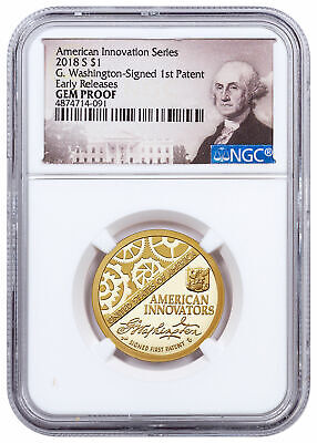 2018 S American Innovation Washington Signed Clad Dollar NGC GEM PF ER SKU56831