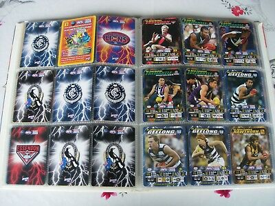 AUSTRALIAN FOOTBALL CARDS~ 2005 AFL 150 Full Set Collector Cards in Album