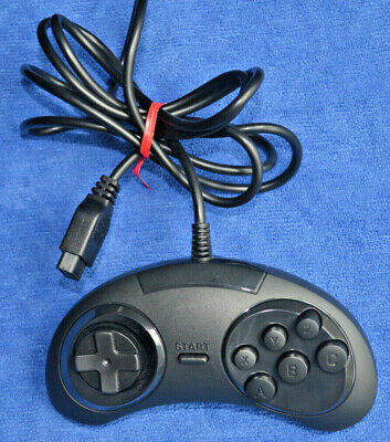 Sega Genesis Classic Game Hand Controller Replacement - Black