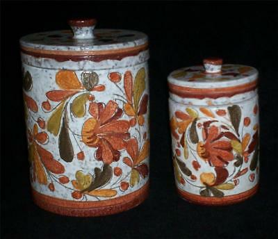 Vintage Italian Pottery Canister Set Numbered 315 Hand Painted