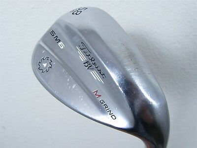 Pre-Owned Titleist Sm6 Tour Chrome Wedge 56* 10* Bounce S Grind Wedge Sand Wedge [Titleist Stock Steel] *Value*
