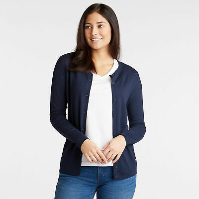Nautica Womens Crewneck Cotton & Modal Cardigan