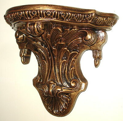 Acanthus leaf with Tassel Classical Reproduction Vintage Wall Sconce Shelf