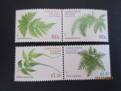 N0--1--2012 Christmas  Island  Ferns  F/Set  Of  4 Stamps Mint  --Mnh