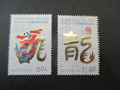 2012  Christmas  Island Year  Of  The  Dragon    Issues   2 Stamps  -Used-- A1