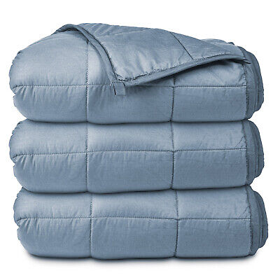 Weighted Gray Blanket - 20 LB - Twin / Queen - Buffalo Sherpa Throw Blanket
