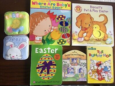 Lot Easter Baby Interactive Board Books Lift Flap Noise Squeak Touch Feel