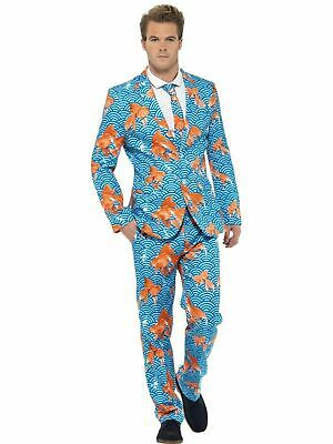 Adult Comedy Funny Goldfish Stand Out Suit Mens Fancy Dress Stag Party Costume
