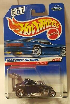 Hot Wheels 1999 First Editions Fiat 500C #11Of 26 Die Cast