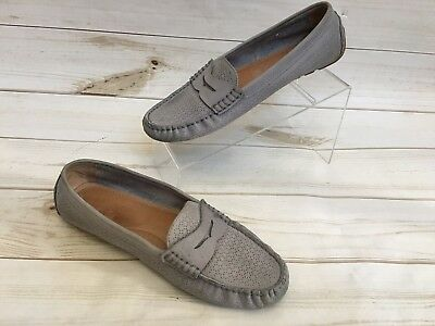 e09a17a2be3 Lauren Ralph Lauren Women s Camila Gray Leather Camila Driving Loafers Size  9.5