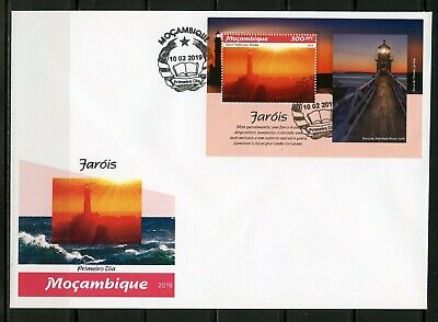 Mozambique 2019 Lighthouses  Souvenir Sheet First Day Cover