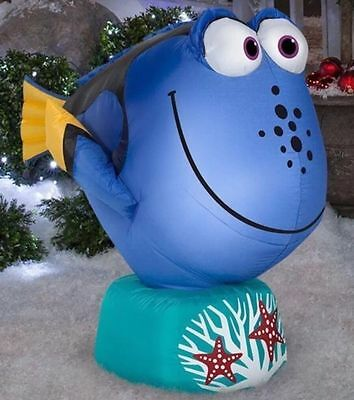 Gemmy 3.5ft Long DORY Disney LED Airblown Inflatable Lights Up, NEW