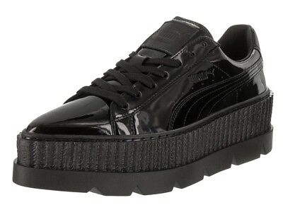 Puma X Fenty By Rihanna Pointy Creeper Lace Up Black Patent Womens Trainers D56