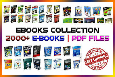 eBooks Package 2000 Collection 6GB with Master Resell Rights PDF-Free Shipping