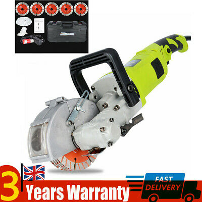 New Electric Wall Chaser Saw Slotter Machine Groove Cutter 4000W With Water Pump