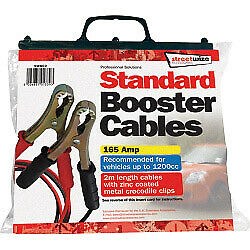 Streetwize Booster Cable with Metal Crocodile Clips 2 Meter 165 Amp Brand New