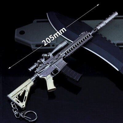 Military Model 1/6 Metal Weapon M27 Sniper Rifle Action Figure key Chains Toy