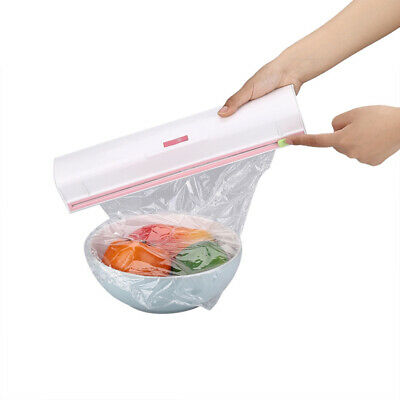 Kitchen Food Cling Film Plastic Wrap Foil Cutter Storage Cutting Box Holder