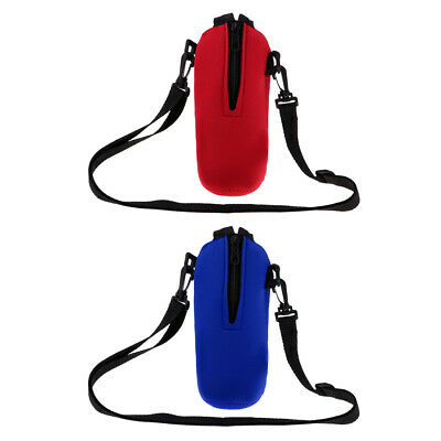 2pcs Pack Sports Water Bottle Holder Sleeve Bag Neoprene Carry Pouch Case