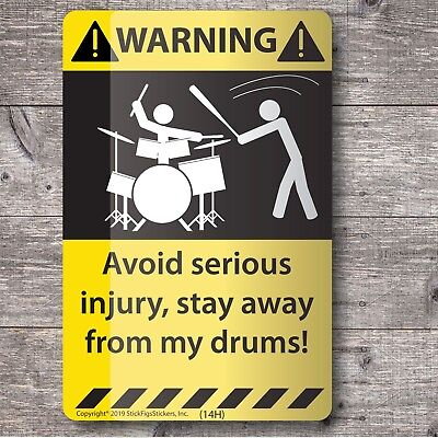 Sticker for new or used Yamaha, Ludwig, Pearl, Drum or Drummer Set Case #3214R