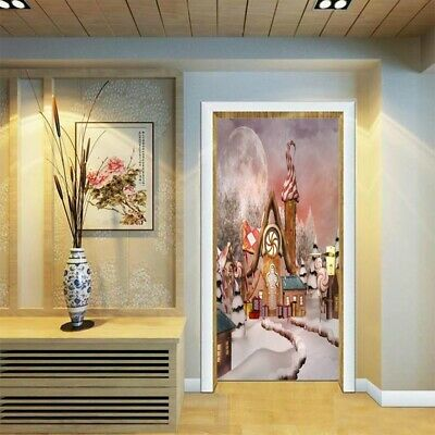 2 sheets/pcs Christmas Snow Scenery DIY Mural Sticker Dreaming House Decoration