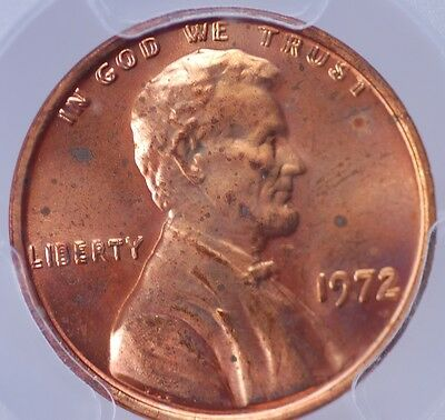 1972 Doubled Die Obverse Memorial Cent Pcgs Ms 63 Red The Big One!