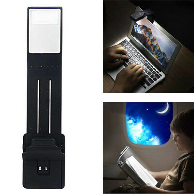 Black Portable Flexible Folding LED Clip On Reading Book Light Lamp For Reader