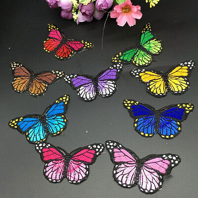 Pretty Cloth Sew DIY Patch Embroidered Butterfly iron on Appliques/scrapbook MDA