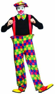 Adult Circus Clown Mens Halloween Horror Fancy Dress Stag Party Costume Outfit
