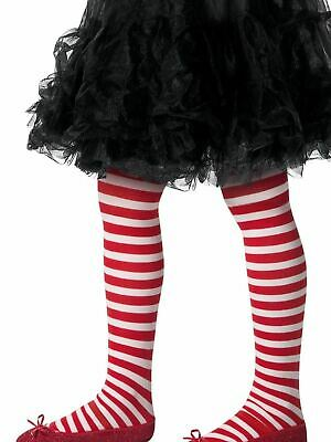 Striped Tights, Childs Red / White