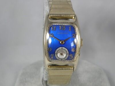 Hamilton * Boulton *    Serviced 1940`S    Tonneau Case Men`s Watch... Stunning