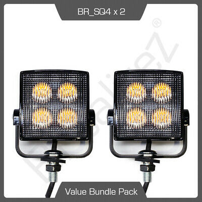 2 x SQ4 LED Directional Warning Light Beacon For Recovery Lightbar Strobe 12/24V