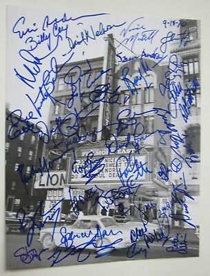 Fillmore East Signed 11X14 By 33 Bands Les Paul Nick Mason Billy Cox Meisner SEE