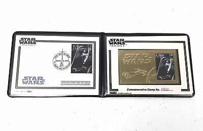 Stars Wars Stamps Gold Commemorative First Day of Issue 1995 Darth Vader