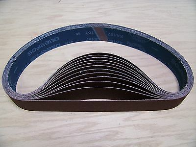 "Premium  A/O,  X-Weight  Sanding  Belts  2"" X 42"",  10 - Pack,  120-Grit"