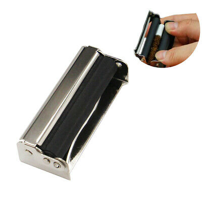 70mm Metal Cigarette Rolling Machine Tobacco Maker Roller Hand Tool w/Cover Cool