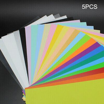 5Pcs Color Heat Shrink Sheet Plastic Magic Paper Film DIY Jewelry Making Crafts