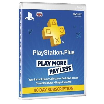 Playstation Plus - 90 Day Subscription Card (for Ps3, Ps4 & Psvita) /ps4