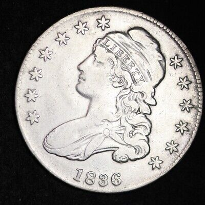 1836 Capped Bust Half Dollar CHOICE XF FREE SHIPPING E419 WMM