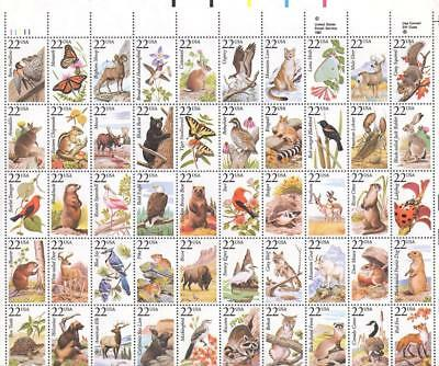 Scott # 2286-2335 - US Sheet Of 50 - American Wildlife - MNH -1987