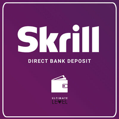 Skrill Balance Wire Transfer Direct bank deposit
