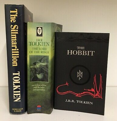 JRR TOLKIEN- The Lord Of The Rings, V.1,2 & 3. The Hobbit, The Silmarillion (C)